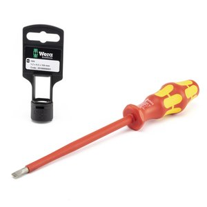 "Wera Tools 05100006001 VDE Insulated Screwdriver, 1/4""-6"""