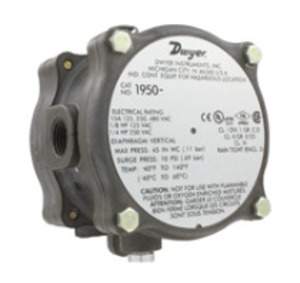 Dwyer 1950-0-2F SPDT INTEGRAL EXPL-WP PRESSURE SWITCH RANGE .15-.