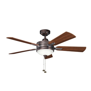 "Kichler 300148OBB 52"" Ceiling Fan, 5-Blade, Oil Brushed Bronze, Integrated Downlight *** Discontinued ***"
