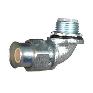 "Appleton STNM-90150 Liquidtight Connector, 90°, 1-1/2"", Insulated, Steel"