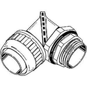 """Hubbell-Raco 4731 Conn Lqtght Swvl 90deg Typ B 3/8""""ts Nm"""