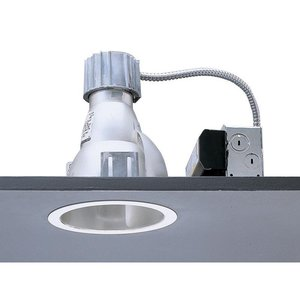"""Lightolier 8022CLW 7"""" 32/42w Triple Tube Downlight Clear Alzack Slf Flg Wht Calculite *** Discontinued ***"""