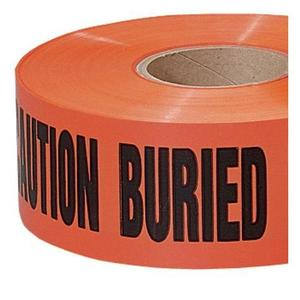 "3M 302 ""Caution Buried Electric Line"" Buried Barricade Tape, 3"" x 1000'"