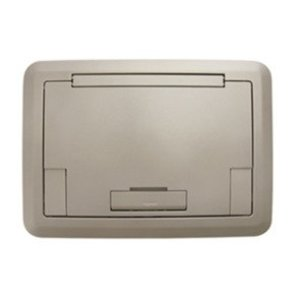 Wiremold EFB45BTCNKTR Surface Style Cover with Floor Insert, Nickel
