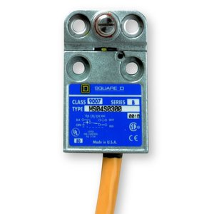 Square D 9007MS04S0300 Limit Switch, Side Rotary, 10A, 300VAC, Prewired, 9' Cable, Yellow