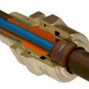 """Prysmian 424BT03 Tray Cable Connector, 3/4"""", 0.51 - 0.76"""", Brass"""