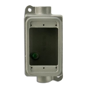 "Appleton FSC-1-50L FS Device Box, 2-Gang, Feed-Thru, Type FSC, 1/2"", Malleable Iron"