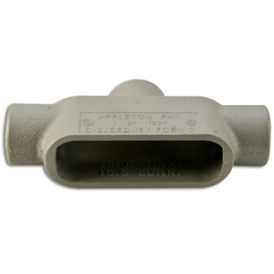 "Appleton TB27 Conduit Body, Type: TB, 3/4"", Form 7, Grayloy-Iron"