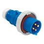 363P6W PS IEC PLUG 2P3W 63A 220-240V W/T