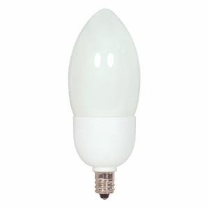 Satco S7311 3W TORPEDO CFL CAND.(E12)