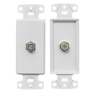 Hubbell-Premise NS780W Wallplate Insert, Decora, F-Connector, White