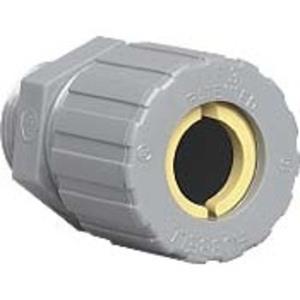 "Hubbell-Killark ZS108CR Cord Connector, Straight, 1/2"", Cord Range: 0.375"" to 0.5"", Nylon"