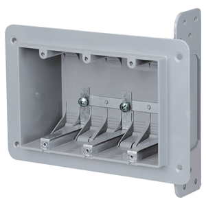 3WSW 3 GANG PLASTIC BOX
