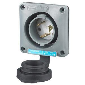 Hubbell-Wiring Kellems HBL2625SW LKG WT S/SHRD FLG-INLT, 30A 250V, L6-30P