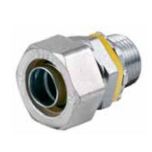 """Hubbell-Wiring Kellems H100 Liquidtight Connector, Straight, 1"""", Steel"""