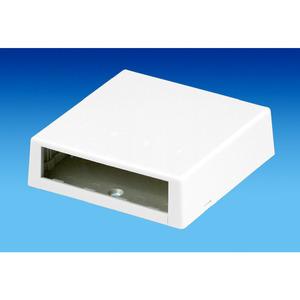 Panduit CBXC4BL-A Surface Mount Box, 4 Port, Low Profile,