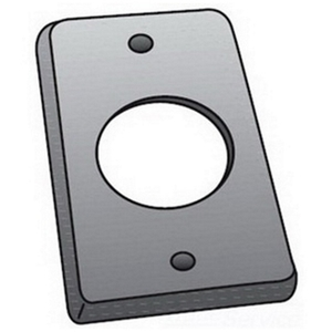 "OZ Gedney FS-1-LRCS Single Receptacle Cover, 1- Gang, Opening: 1-5/8"", Steel"