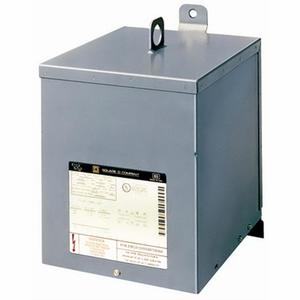 Square D 10S40FSS Transformer, Dry Type, 10KVA, 480VAC x 120/240VAC, Stainless Steel