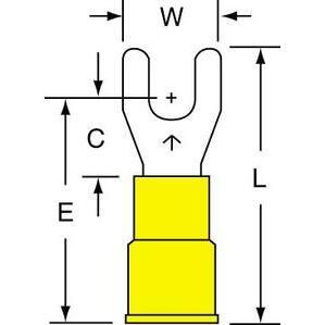 3M MV10-8FX Standard Fork, Vinyl-Insulated, WR: 12 - 10, Stud Size: 8