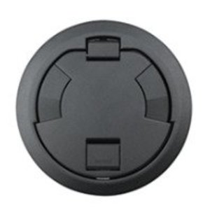 "Wiremold 6CTC2BKTR Tamper-Resistant Surface Style Cover Assembly, 7-1/4"", Black"