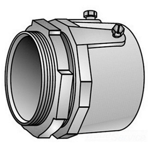 "OZ Gedney 28-300 Rigid Set Screw Connector, 3"", Malleable, Concrete Tight"