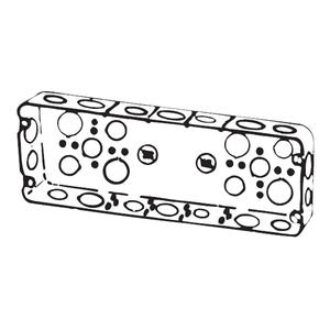 Steel City 5G-1/2-3/4 5GANG STEEL BOX, 1/2IN  3/4IN KO'S