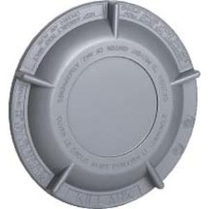"Hubbell-Killark GRM-BC Conduit Outlet Box Cover, Diameter: 5-9/32"", Aluminum"