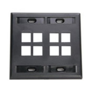 Leviton 42080-8EP Wallplate, Black