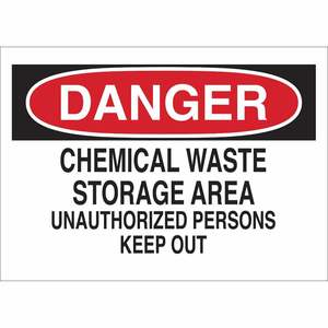 40644 CHEMICAL & HAZD MATERIALS SIGN