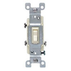 Leviton 1453-ICP 3-Way Toggle Switch, 15A, 120VAC, Ivory, Residential Grade