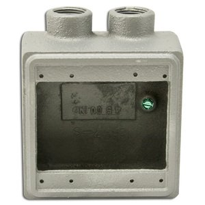 """Appleton FDS-2-75 FD Device Box, 2-Gang, Dead-End, Type FDS, 3/4"""", Malleable Iron"""