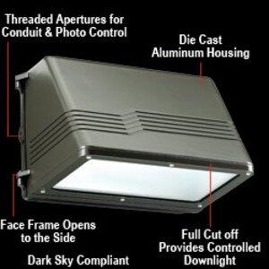 Atlas Lighting Products WLMFC150PQPK 150W MH Full Cut-Off Wallpack