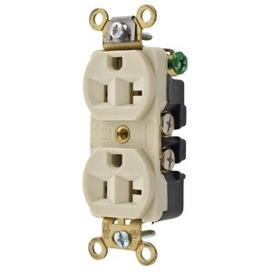 Hubbell-Wiring Kellems HBL5342I DUP RCPT, INT GRD, 20A 125V, 5-20R, IV