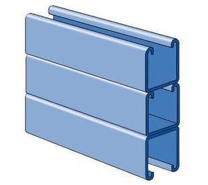 "Unistrut P1001-3-20PG Channel - Triple Stack, Steel, Pre-Galvanized, 1-5/8"" x 4-7/8"" x 20'"