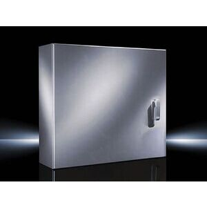 "Rittal 8018515 Wall Mount Enclosure, Hinge Cover with Latch, 48 x 36 x 16"", Stainless Steel"