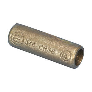 """nVent Erico CR58 Threaded Coupler, 5/8"""", For Copper Bonded Rods, Bronze"""