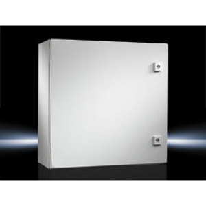 "Rittal 1050250 Enclosure, Wall-Mount, NEMA 4, Hinge Cover, 20 x 20 x 8.3"", Steel"