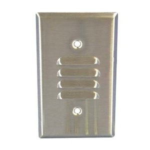 Leviton 84080-40 Louvre Wallplate, 1-Gang, Horizontal, Stainless Steel