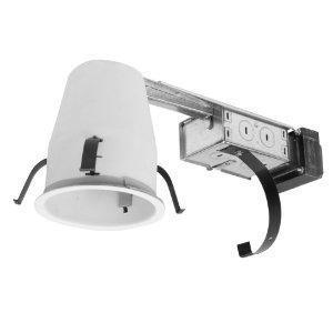 Halo H1499RTAT Recessed Non-IC Housing,  Shallow Ceiling, 4""