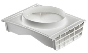 Lambro 164W 4IN OR 6IN WHITE PLASTIC DOUBLE SIDED UNDER EAVE