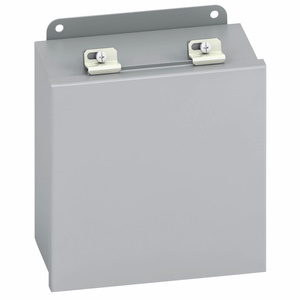 "Cooper B-Line 1084-12LC Enclosure, JIC Series, Lift-Off Cover, NEMA 12, 10 x 8 x 4"", Steel/Gray"
