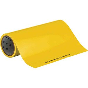 "Brady 15509 Roll Form Pipe Marker, Yellow, Blank Legend, 12"" x 30'"