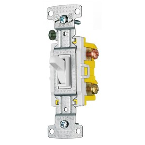 Hubbell-Wiring Kellems RS315SW HUB RS315SW RESI TOG SWITCH, 3WP
