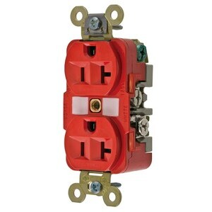 HBL5362R HUB 20A 125V RED RECEPTACLE