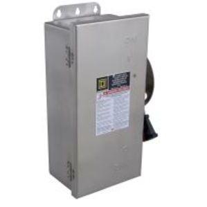 Square D H361SS Disconnect Switch, Fusible, NEMA 4/4X/5, 30A, 3P, 600VAC