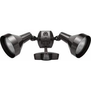 RAB STL110H Flood Light, Halogen, Bell, w/ Motion Sensor, 150W, Bronze