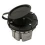 "Wiremold 861 Raised Floor Box, Round, 4"" Diameter, Depth: 3-3/16"", Metallic"