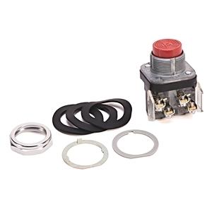 Allen-Bradley 800T-B6A Push Button, Extended Head, 30mm, Red, NEMA 4/13