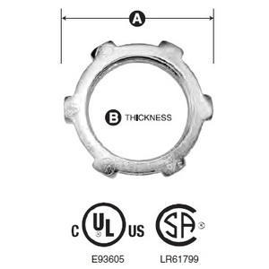 """American Fittings Corp LN400 Conduit Locknut, 4"""", Steel"""