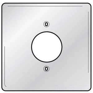"Hubbell-Kellems SS749 Single Receptacle Wallplate, 2-Gang, (1) 1.60"" Hole, Stainless Steel"